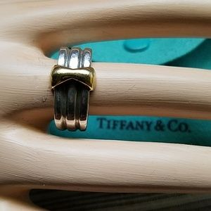 Tiffany & Co. Silver & Gold Bow ring